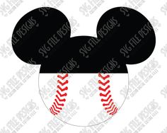 Mickey Mouse Baseball SVG Cut File Set for Boy's Disney Shirts and Tumblers Boy Disney Shirts, Disney World Shirts, Mickey Mouse Shirts, Disney Boys, Half Birthday, Boy Birthday Parties, Baseball Party, Baseball Shirts, Disney Scrapbook Pages