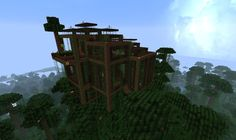 Minecraft Creations, Minecraft Ideas, Minecraft Treehouses, Tutorials, Games, Building, Crafts, Manualidades, Buildings