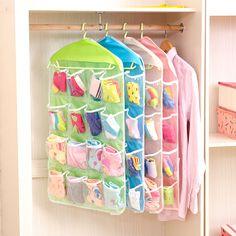 Sorting Storage Bag Multifunction Clear Socks Cosmetic Underwear Door Wall Hanging Closet Organizer Bag Cajas Organizadora HOT