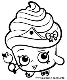 Shopkins For Kids Coloring Pages Free Printable
