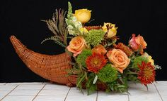 Cornucopia or Horn of Plenty For Thanksgiving from Rittners Floral ...