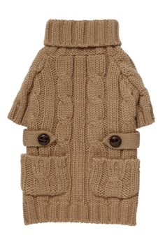 Fab Dog Camel Chunky sweater