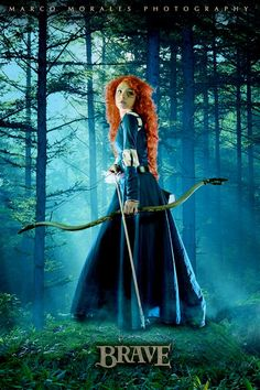 Angela Bermúdez A. as Merida from Brave  Halloween costume? Yes please.