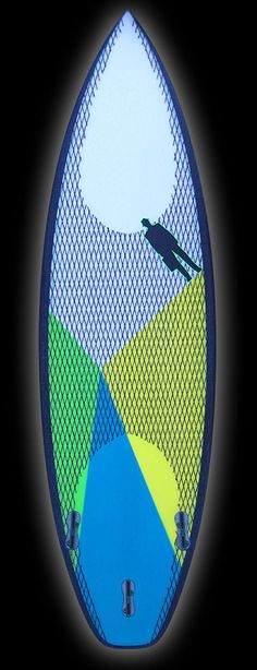Monsta | Carbon Footprint Titanium II tri lemon/lime/aqua – Proctor Surfboard Shop