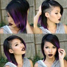medium haircut for girls with temple undercut