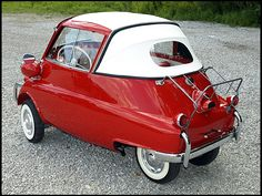 Absolutely adorable! 1957 BMW ISETTA Convertible 300 CC, 4-Speed. repinned by www.gorara.com