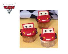 Lightning McQueen Cupcakes  Japanese Version recipe  http://download.disney.co.jp/pixar/prints/830033  English recipe  http://family.go.com/food/recipe-1015843-lightning-mcqueen-cupcakes-t/