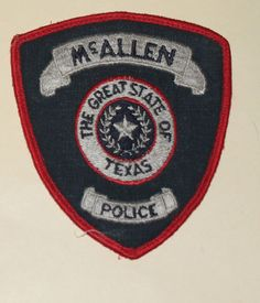 McALLEN POLICE Texas TX PD Used Worn patch