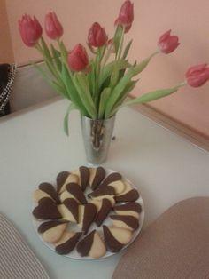 Chocolate Heart Butter Cookies