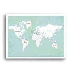 Found it at Wayfair - 'World Map' Graphic Art