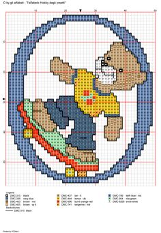 Playful Bears Alphabet Full Sized Sampler Cross Stitch Pattern Alfabeto Hobby degli orsetti: O Cute Alphabet, Alphabet And Numbers, Cross Stitch Letters, Cross Stitch Flowers, Counted Cross Stitch Patterns, Cross Stitch Embroidery, Coloring For Kids, Needlework, Crafts