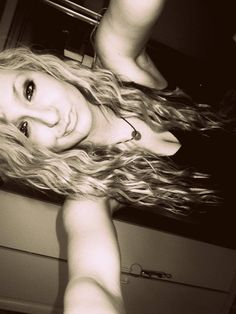 crimped hair.