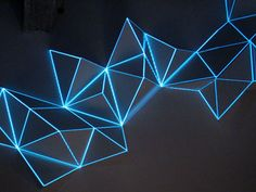 Triangular Architecture, Geometric Origami, Sculpture Art, Lighting Sculpture, Projection Mapping, Light Project, Light Installation, Stage Design, Light Art