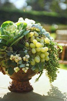 Centros de mesa con frutas