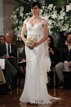 Romona Keveza Legends Fall 2013 L373 lace cap sleeve wedding dress