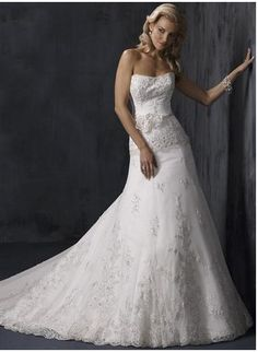 2012 Style Trumpet   Mermaid Sweetheart Hand-Made Flower Sleeveless Court  Trains Lace Wedding Dresses For Brides 3ea100870750