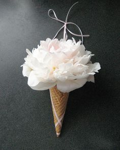ice cream! Wouldn't this be cute for a flower girl at a casual wedding with a summery theme?