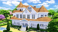 BASE GAME FAMILY HOUSE w/ Grave Sweeney | Sims 4 Speed Build