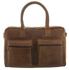 Burkely Businessbag Vintage Shoulderbag Cognac 15 inch