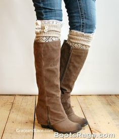 I want these in black as well......Legwarmers boot socks - Women Boots And Booties