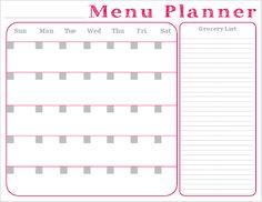 monthly meal calendar