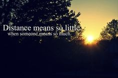 exactly. & if distance is a factor, it isn't the right person