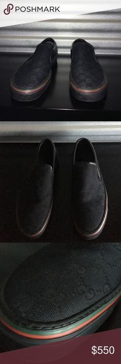 Gucci Red and Green Slip-on Sneakers like new Gucci Shoes Loafers & Slip-Ons
