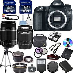 Introducing NEW Canon EOS 70D 202 MP Digital SLR Camera with Dual Pixel CMOS AF Full HD 1080p Video with Movie and EFS 1855mm F3556 IS STM Lens Digideals Exclusive Bundle Kit  Canon 55250mm IS II Zoom Lens  3pc Deluxe Filter Kit UV  CPL  FLD  43x Wide Angle Lens  22x Telephoto Lens  2pcs 16GB Memory Cards  50 Professional Steady Tripod  Digital Slave Flash  Bundle Kit. Great Product and follow us to get more updates!