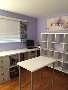 Organizing School, Ikea Kallax, School Stuff, Office Desk, Corner Desk, Furniture, Home Decor, House, Corner Table