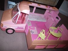 Barbie Magic Motorhome with detachable Fun Car. Totally had this! We have the accessories floating around at grandma's!