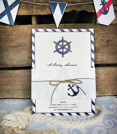 vintage nautical baby shower | Honeycomb Events + Design