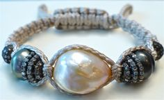 Fresh water and Tahitian pearls, rose cut champagne coloured diamonds Coloured Diamonds, Tahitian Pearls, Champagne Color, Fresh Water, Jewerly, Pearl Earrings, Beaded Bracelets, Rose, Collection