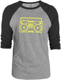 Big Texas Blaster (Yellow) 3/4-Sleeve Raglan Baseball T-Shirt