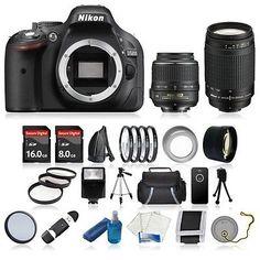 NEW Nikon D5200 Digital SLR Camera Body w 4 Lens Complete DSLR 24GB VALUE KIT. Deal Price: $807.00. List Price: $1329.00. Visit http://dealtodeals.com/nikon-d5200-digital-slr-camera-body-lens-complete-dslr-24gb-kit/d21623/camera-photo/c45/