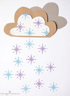 """Weihnachtsstempel - Kreuzstich Stempel """"Schneeflocke"""" von marga.marina - ein Designerstück von margamarina bei DaWanda"""