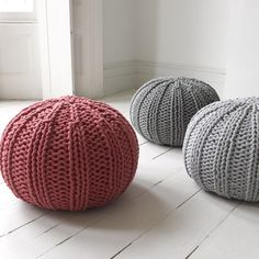 BUG These hand-knitted rope pouffes are exceptional. Not only do they look cute, but they are hardy friends ideal for feet, bums and… children to leap from!