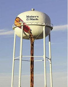 The city of Lebanon, Ky., is adding a mural to its 135-foot downtown water tower to make it look like the world's largest Maker's Mark pour. The artwork will highlight the nearby distillery, the biggest tourist attraction in the county.