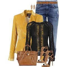 A fashion look from February 2015 featuring Balmain sweaters, H&M jeans and Giuseppe Zanotti sandals. Browse and shop related looks.