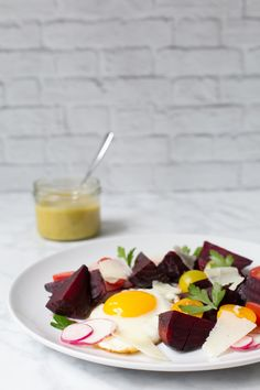 BEET MANCHEGO SALAD WITH A CILANTRO LIME VINAIGRETTE