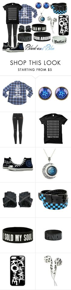 """Black and Blue"" by biter-sweet ❤ liked on Polyvore featuring Paige Denim, Converse and Sebastian Professional"