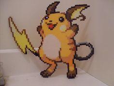 Pokemon: Perler Bead Raichu by heatbish.deviantart.com on @DeviantArt