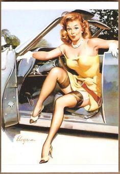Девушки, машины, и классики пин-апа - Все интересное в искусстве и не только.