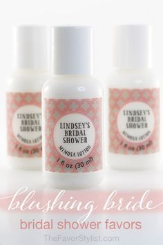 Need bridal shower favor ideas even a Bridezilla would love? Pamper your bridal shower guests (and the bride) with Bridal Shower Lotion favors.
