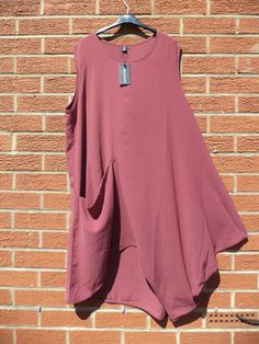 Bella blue Lagenlook tunic, Quirky boho look size 12/16 #BellaBlue #QuirkyTunic