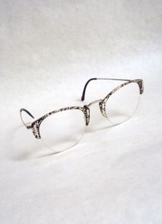 1940s 50s Black & silver lucite spectacles by Veramode on Etsy