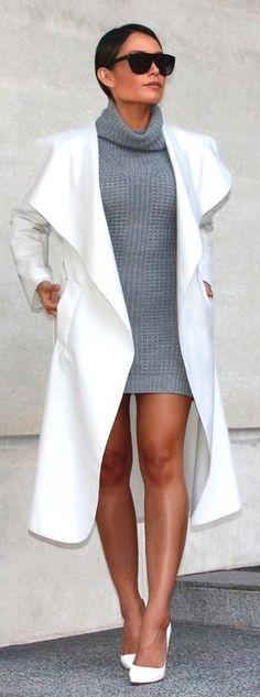 Combinar vestido de punto gris