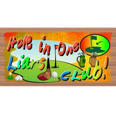 Sign - Golf - Hole in One -GS 2348 - Golf plaque - Wood Sign