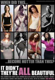 "body shaming is body shaming, no matter where the criticism is directed - tired of the hypocrisy behind the ""when did this.. become hotter than this?"" images."