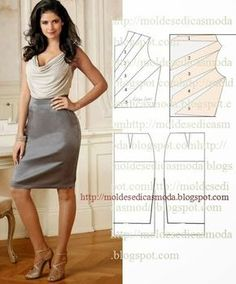31 Ideas skirt pattern pleated fabrics for 2019 Sewing Dress, Dress Sewing Patterns, Diy Dress, Blouse Patterns, Clothing Patterns, Blouse Designs, Fashion Sewing, Diy Fashion, Ideias Fashion