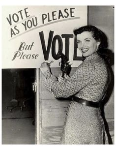 Vote as you please, but please vote.